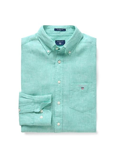 Gant Düz Slim Gömlek Yeşil